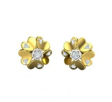 Natural Diamond Earrings 0.23 CT / 4.00 gm Gold