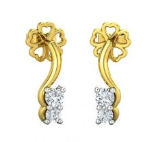 Diamond Earrings 0.19 CT / 2.20 gm Gold