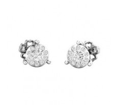Natural Diamond Earrings 0.30 CT / 2.25 gm Gold