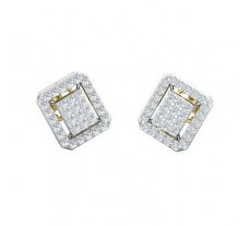 Natural Diamond Earrings 0.59 CT / 3.70 gm Gold