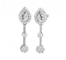 Natural Diamond Earrings 0.79 CT / 5.40 gm Gold