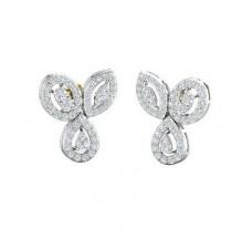 Natural Diamond Earrings 1.28 CT / 7.80 gm Gold