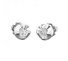 Natural Diamond Earrings 0.32 CT / 3.06 gm Gold