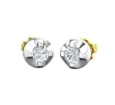 Natural Diamond Earrings 0.42 CT / 3.47 gm Gold