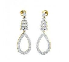 Natural Diamond Earrings 1.55 CT / 6.50 gm Gold