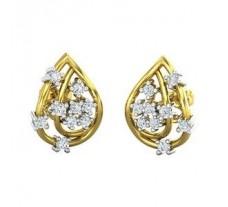 Natural Diamond Earrings 0.22 CT / 3.55  gm Gold
