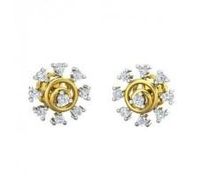 Natural Diamond Earrings 0.22 CT / 2.95  gm Gold