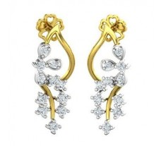 Natural Diamond Earrings 0.39 CT / 3.69  gm Gold