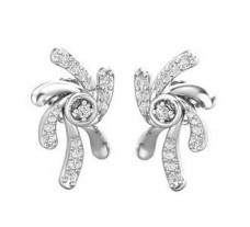 Natural Diamond Earrings 0.34 CT / 3.84  gm Gold