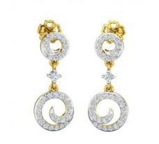 Natural Diamond Earrings 0.50 CT / 4.19  gm Gold