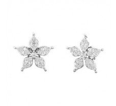 Natural Diamond Earrings 0.61 CT / 3.85 gm Gold