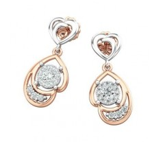 Natural Diamond Earrings 0.36 CT / 3.86  gm Gold