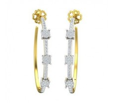 Natural Diamond Earrings 0.76 CT / 7.39  gm Gold