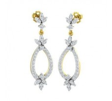 Natural Diamond Earrings 0.96 CT / 5.24 gm Gold