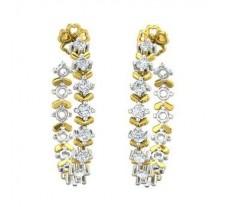 Natural Diamond Earrings 0.72 CT / 6.46 gm Gold