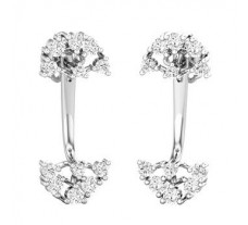 Natural Diamond Earrings 0.50 CT / 4.04 gm Gold