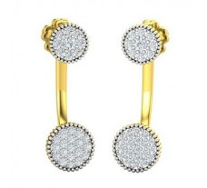 Natural Diamond Earrings 0.56 CT / 4.26 gm Gold