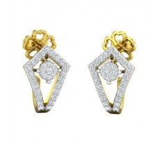 Natural Diamond Earrings 0.48 CT / 4.12 gm Gold