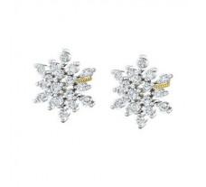Natural Diamond Earrings 0.47 CT / 3.25 gm Gold