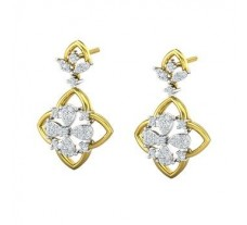Natural Diamond Earrings 0.61 CT / 6.61 gm Gold