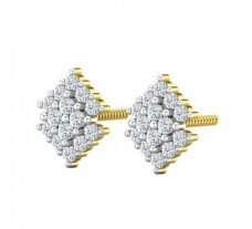 Natural Diamond Earrings 0.36 CT / 2.74 gm Gold