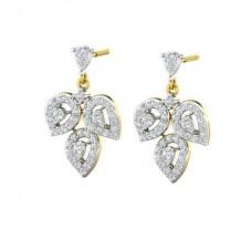 Natural Diamond Earrings 1.11 CT / 5.93 gm Gold