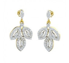 Natural Diamond Earrings 1.08 CT / 5.75 gm Gold