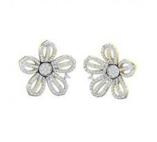 Natural Diamond Earrings 2.60 CT / 5.66 gm Gold