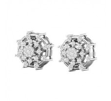 Natural Diamond Earrings 0.69 CT / 2.69 gm Gold