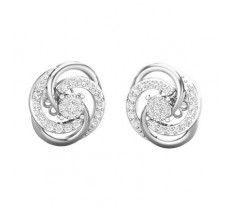 Natural Diamond Earrings 0.44 CT / 4.56 gm Gold