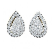 Natural Diamond Earrings 0.88 CT / 4.10 gm Gold