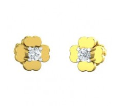 Natural Diamond Earrings 0.13 CT / 2.51 gm Gold