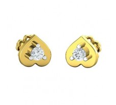 Natural Diamond Earrings 0.13 CT / 2.35 gm Gold