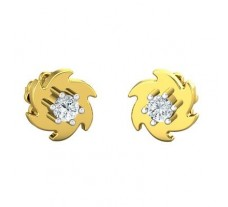 Natural Diamond Earrings 0.14 CT / 2.50 gm Gold