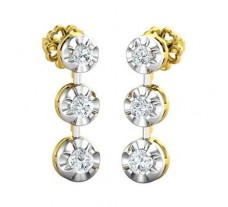 Natural Diamond Earrings 0.49 CT / 3.81 gm Gold