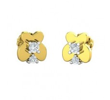 Natural Diamond Earrings 0.18 CT / 2.80 gm Gold