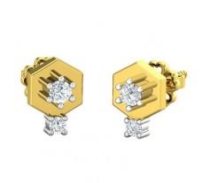 Natural Diamond Earrings 0.18 CT / 2.70 gm Gold