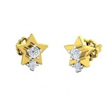 Natural Diamond Earrings 0.18 CT / 2.60 gm Gold