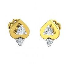 Natural Diamond Earrings 0.18 CT / 2.55 gm Gold