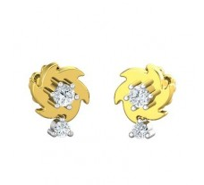Natural Diamond Earrings 0.18 CT / 2.70 gm Gold