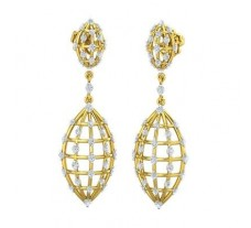 Natural Diamond Earrings 1.18 CT / 7.23 gm Gold