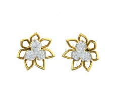 Natural Diamond Earrings 0.48 CT / 5.52 gm Gold