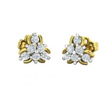 Natural Diamond Earrings 0.30 CT / 2.53 gm Gold
