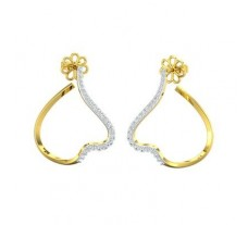 Natural Diamond Earrings 0.60 CT / 5.70 gm Gold