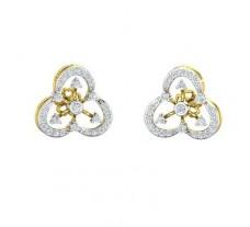 Natural Diamond Earrings 0.47 CT / 4.52 gm Gold