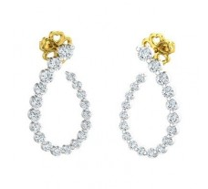 Natural Diamond Earrings 0.55 CT / 2.76 gm Gold