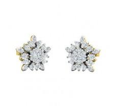 Natural Diamond Earrings 0.48 CT / 2.84 gm Gold