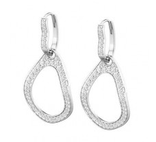 Natural Diamond Earrings 1.25 CT / 5.48 gm Gold