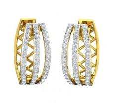 Natural Diamond Earrings 0.87 CT / 6.19 gm Gold