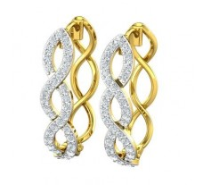 Natural Diamond Earrings 0.70 CT / 5.98 gm Gold